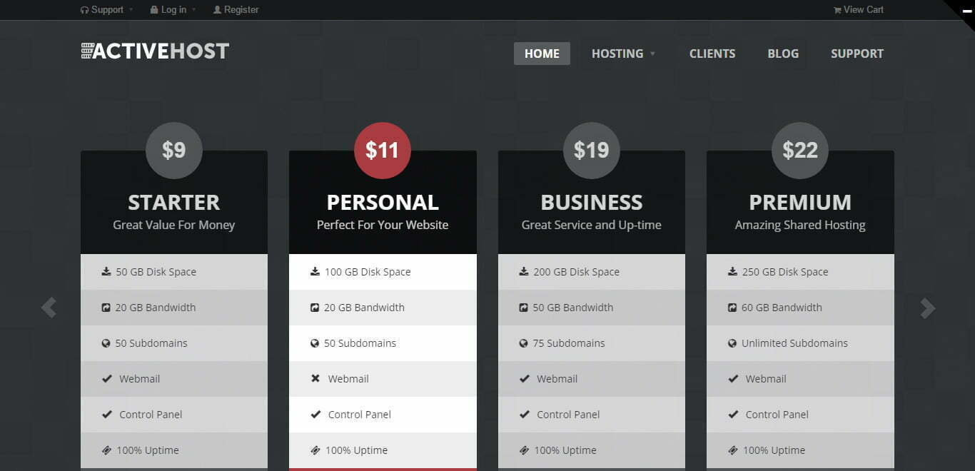 Activehost wordpress theme