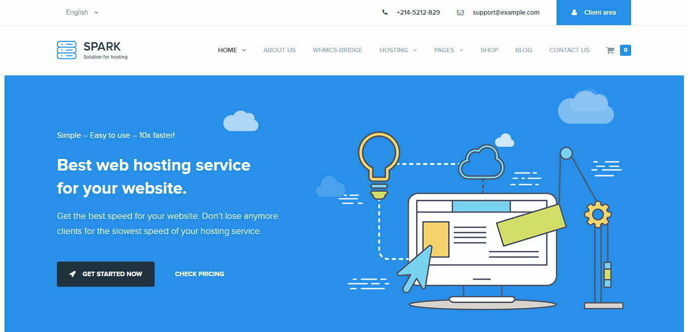 Spark Hosting wordpress theme