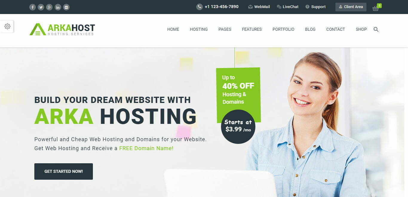 arka host wordpress theme