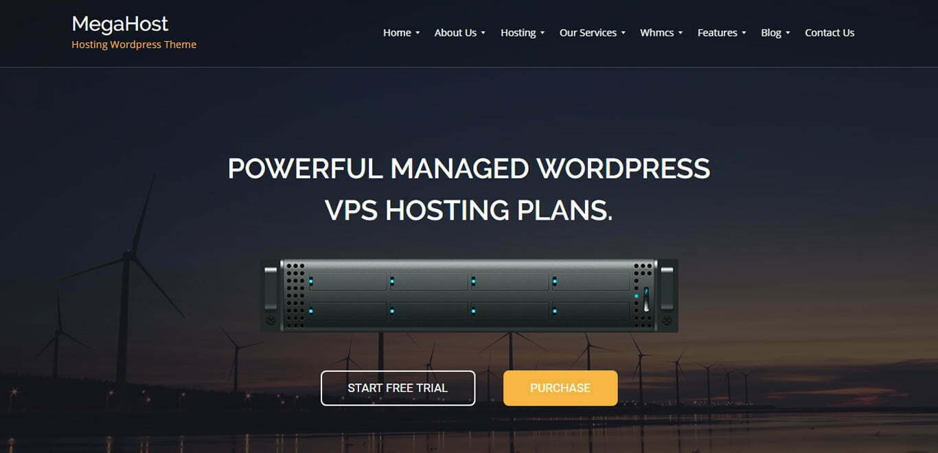 megahost wordpress theme